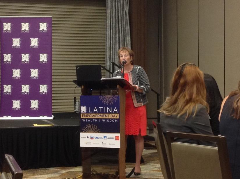 Brandi speaking at Latina Empowerment Day Image1