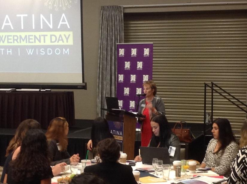 Brandi speaking at Latina Empowerment Day Image2